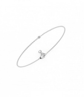 Bracelet diamant Or Blanc 18 carats 0