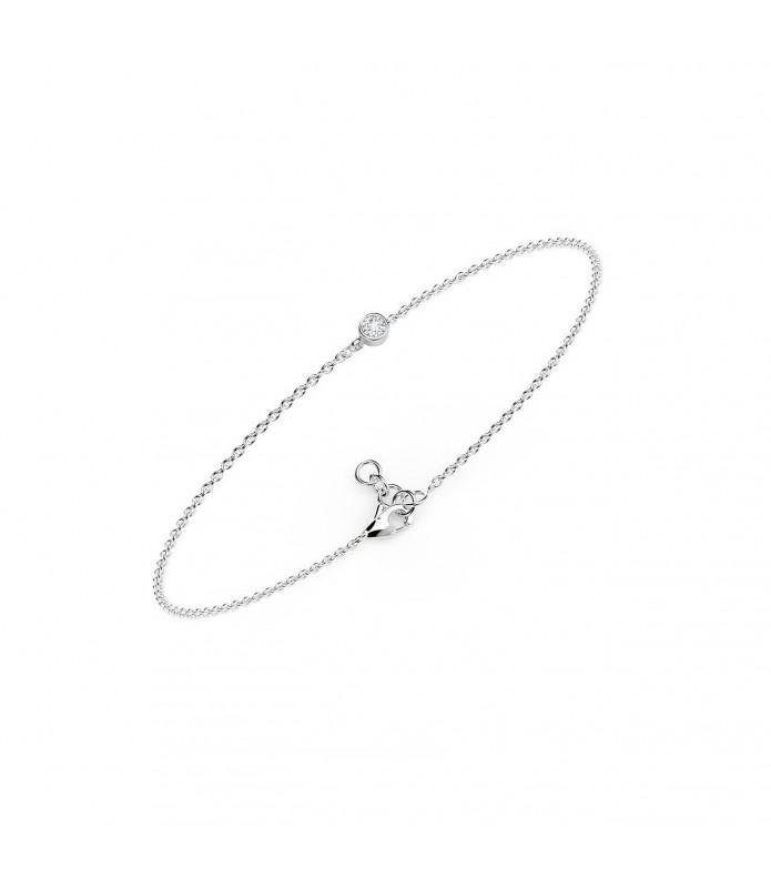 Bracelet diamant clos Or Blanc 18 carats 0