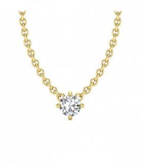 Pendentif solitaire diamant Or jaune 18 carats 0