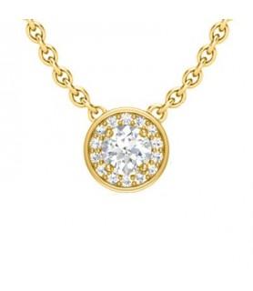 Pendentif diamant Or jaune 18 carats 0