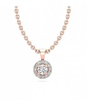 Pendentif diamant Or rose 18 carats 0