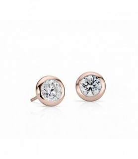Boucles d'oreilles diamant Or rose 18 carats 0
