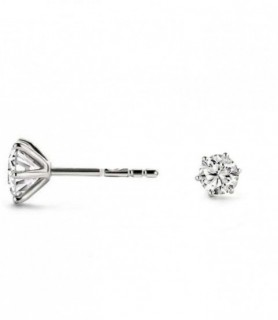 Boucles d'oreilles diamant Or blanc 18 carats 0