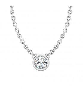 pendentif solitaire diamant clos