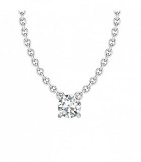 Pendentif Diamant Or blanc 18 carats Luna