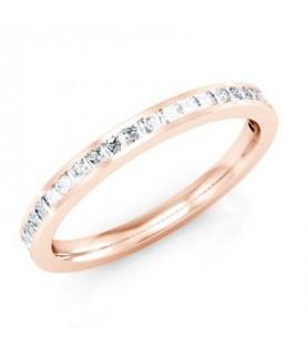 Alliance Diamant Or rose 18 carats Alba