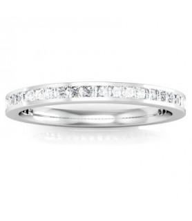 Alliance Diamant Or blanc 18 carats Alba