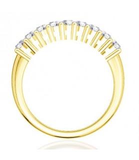 Alliance Diamant Or jaune 18 carats Gaïa