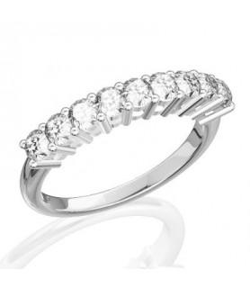 Alliance Diamant Or blanc 18 carats Gaïa