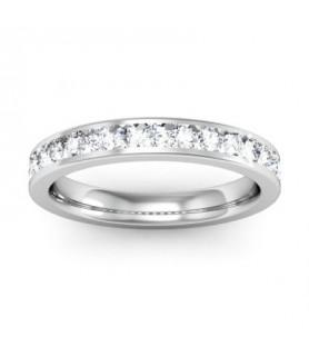 Alliance Diamant Or blanc 18 carats Sofia