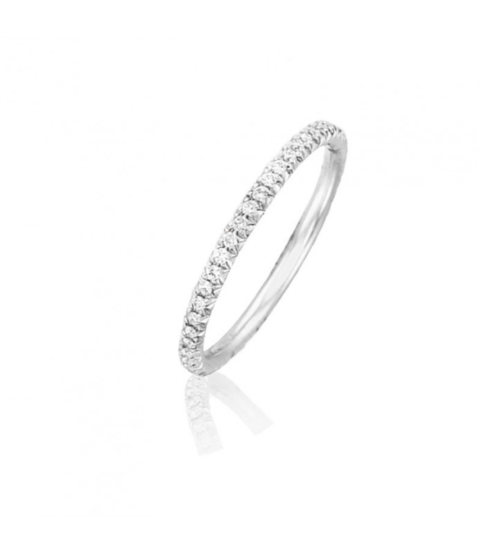 Alliance Diamant Or blanc 18 carats Helena