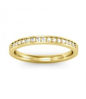Alliance Diamant Or jaune 18 carats Lena