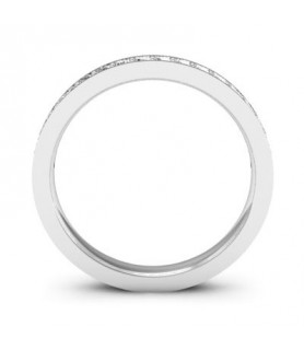 Alliance Diamant Or blanc 18 carats Lena