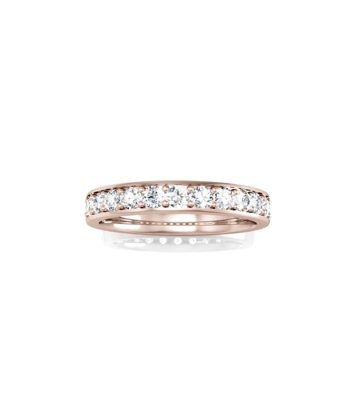 Alliance Diamant Or rose 18 carats Lena