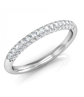 Alliance Diamant Or blanc 18 carats Elena