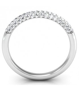 Alliance Diamant Or blanc 18 carats Elena