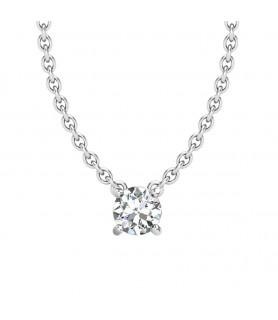 Pendentif diamant Or blanc 0,10 carat