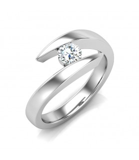 Solitaire diamant Or blanc Laetitia