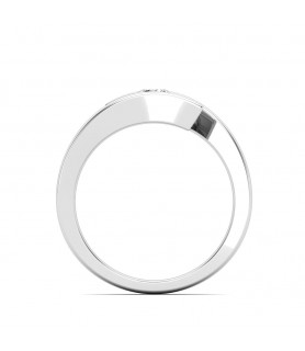 Solitaire diamant Or blanc Laetitia