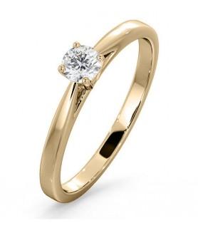 Solitaire diamant Or jaune 18 carats