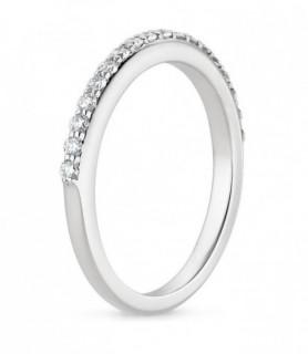 Alliance diamant demi tour Or blanc 750‰