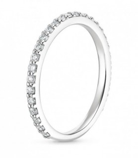 Alliance diamant trois quarts tour Or blanc 750‰
