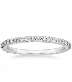 Alliance diamant tour complet Or blanc