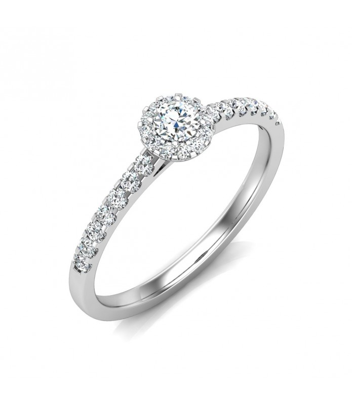 Solitaire diamant Or Blanc 18 carats 0.20 carat