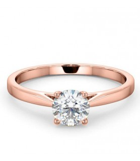 Solitaire diamant 1 carat Or rose 18 carats