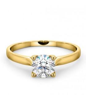 Solitaire diamant 1 carat Or jaune 18 carats