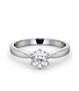 Solitaire diamant 1 carat Or Blanc 18 carats