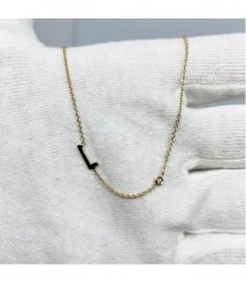 Collier initiale et diamant Or jaune