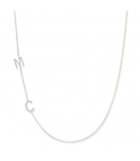 Collier initiales or blanc