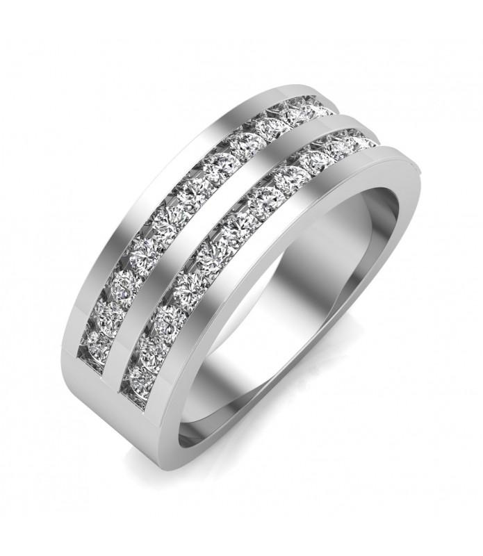 Alliance femme diamant