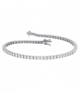 Bracelet rivière diamant or blanc