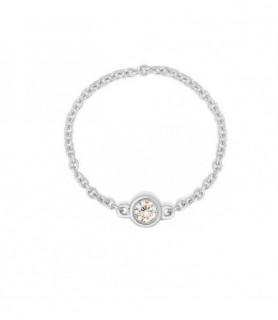 bague diamant chaine or blanc