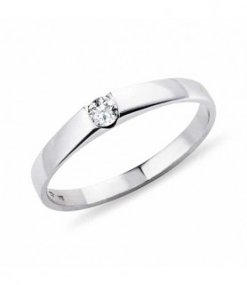 bague solitaire diamant Or blanc
