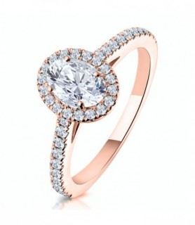 Solitaire diamant Or rose