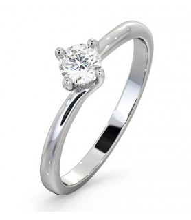 Solitaire diamant Or blanc