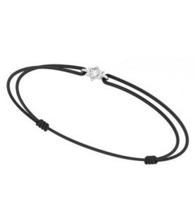 bracelet or blanc étoile diamant