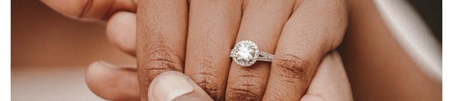 Solitaire diamant entourage