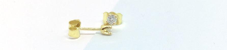 Boucles d'oreilles diamant puces en diamant - diamant-story.com