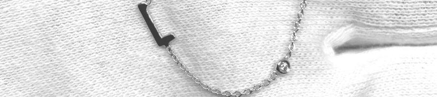 Collier initiale en diamant - diamant-story.com