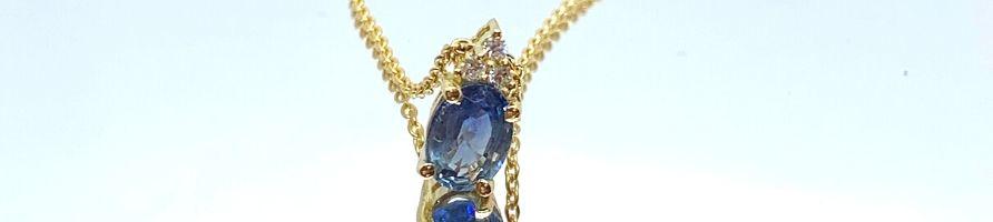 Pendentif-diamant-saphir-Or-jaune